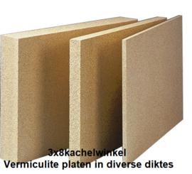 Vermiculite plaat voor binnenwerk houtkachel