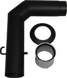 EW/120 2mm Aansluitset 90° graden (Kleur: Zwart)