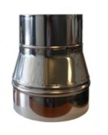 Rookkap verloop van 200 naar 150mm RVS #DH0800273