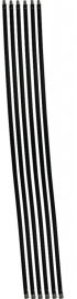 Veegset  7,2  meter met nylonborstel (diameter 80 100 120 125 130 150 180 200 250mm)