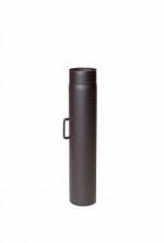 EW/Ø250 2mm Pijp 50cm met klep (Kleur: Zwart)