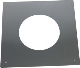DW80/130mm brandseparatie plaat plat - Zwart