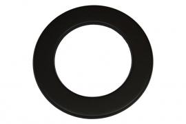 EW/125 mm Rozet Zwart