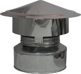 DW80/130mm Valwindtrekkap - Zwart