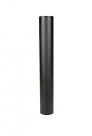 EW/120 2mm Pijp 100cm zonder verjonging (Kleur: Grijs/Antraciet )