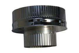 DW200/250mm  Onderaansluitstuk - Zwart