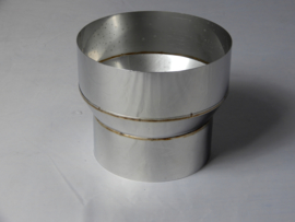 Verloopstuk conische rvs 099 - 126mm