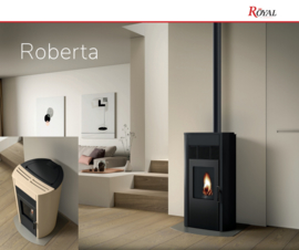 Royal Roberta pelletkachel 6kW of 8kW