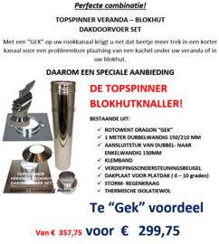 Topspinner Veranda Blokhut dakdoorvoer set (plat dak)