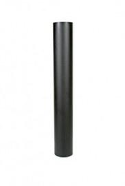 EW/130 2mm staal pijp 100cm zonder verjonging (Zwart)