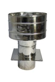 Valwindtrekkap met veegluik basis 150mm
