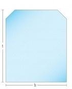 Kachelkvloerplaat zeskant 800 x 800 x 6