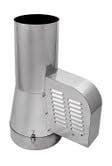 Rookgasventilator met inlaatpijp Ø200mm dia (ZWART) WN-GCK200-CH-ML-B-K