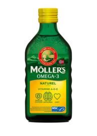 Möller's Omega-3 levertraan naturel 250 ml.