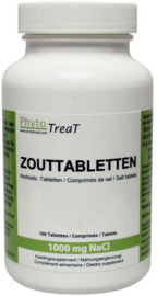 Zouttabletten 1000 mg NACL 100 TB.