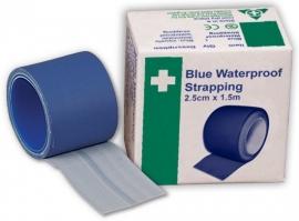 Blauwe Kleefpleister 2,50 x 500 cm. (waterproof)