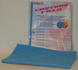 Foxx Contourfoam Zelfklevend  - Medium Density -  Blauw 20 cm. x 29 cm. x 0,9 cm.