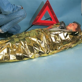 Foxx Emergency Cover / Reddingsdeken Goud/Zilver 160 x 210 cm.