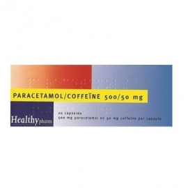 Paracetamol/Coffeine Tabletten 500/50 mg. 20 st