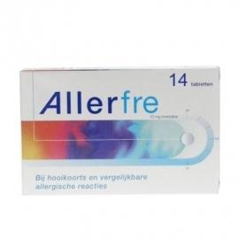 Allerfre Tabletten (hooikoorts) 10 mg. 14 st.