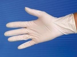 Latex Handschoenen, Licht Gepoederd, Niet Steriel, Medium 1 pr.