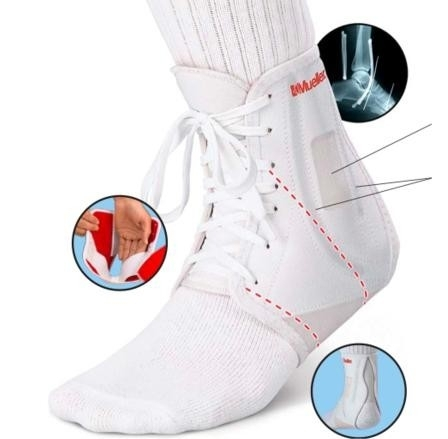 Mueller High Performance ATF Ankle Brace Wit Rechts X-Small