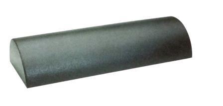 Massagerol Halfrond 9 x 18 x 56 cm. Zwart