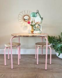 Ronde roze speeltafel kindertafel Circle KidsDepot