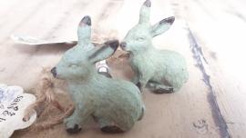 Meubelknop Sass & Belle konijn groen