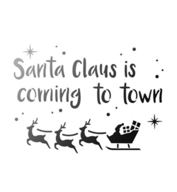Sjabloon Santa Claus is coming to town