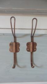 High wire hook - Grote koperen draadhaak old look