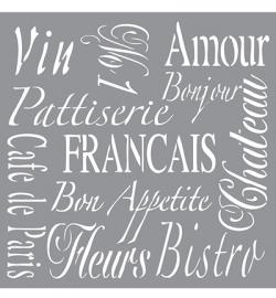 Sjabloon Franse teksten groot