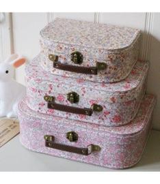 Kofferset Vintage Floral roze van Sass & Belle