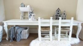 Landelijke kindertafel Queen Anne op maat gemaakt