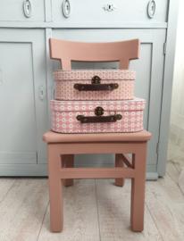 Roze retro kofferset van Sass & Belle