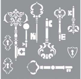 Sjabloon brocante sleutels