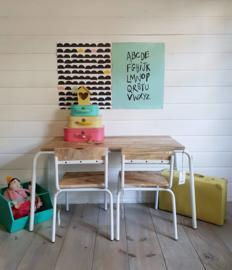 KidsDepot kindertafel grijs Original
