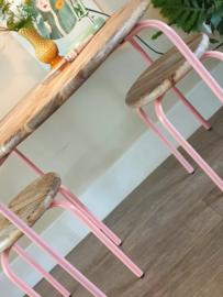 Ronde roze speeltafelset Circle KidsDepot