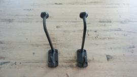 Longnek hook  - Strakke zwarte kapstokhaak groot