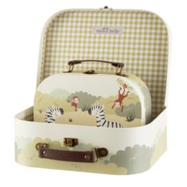 Leuke Savanna Safari koffertjes van Sass & Belle