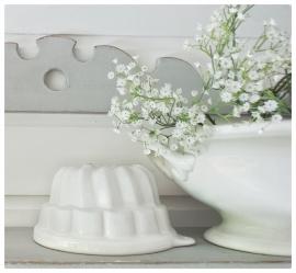 Brocante witte puddingvorm