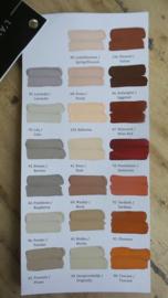 L`Authentique handgeschilderde kleurenkaart