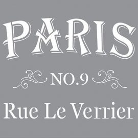 Sjabloon Paris Rue Le Verrier