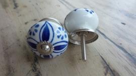 Delfts blauwe porseleinen meubelknop