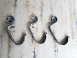 Coventry hook -grijs metalen kapstokhaak