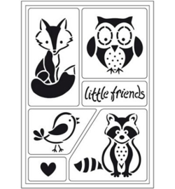 Sjabloon little Friends Vos Uil Das Vogel