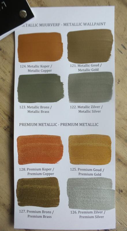 Kleurenkaart metallic