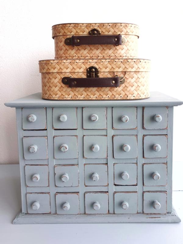 Kofferset van Sass & Belle hippe rattanprint