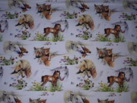 12037 - Paard en veulen scrunchie