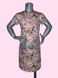 4457 - Paarden jurkje (roze)